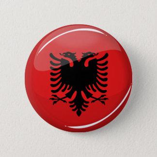 Glossy Round Albanian Flag 6 Cm Round Badge