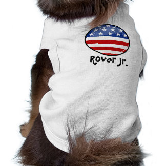 Glossy Round American Flag Sleeveless Dog Shirt