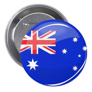 Glossy Round Australian Flag 7.5 Cm Round Badge