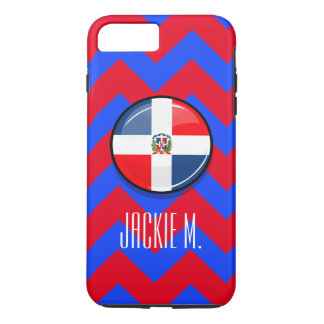 Glossy Round Dominican Flag iPhone 7 Plus Case