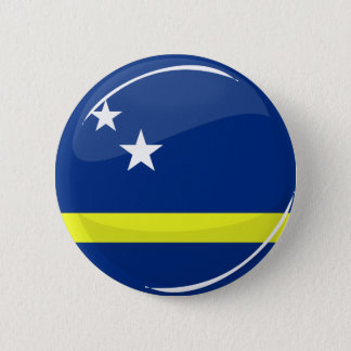 Glossy Round Flag Curacao Flag 6 Cm Round Badge