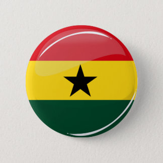 Glossy Round Ghanian Flag 6 Cm Round Badge