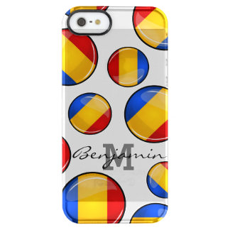 Glossy Round Romanian Flag Clear iPhone SE/5/5s Case