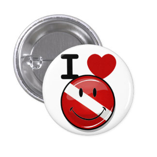 Glossy Round Smiling Diver Flag 3 Cm Round Badge