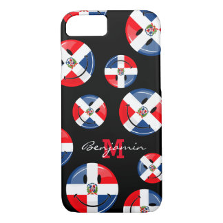 Glossy Round Smiling Dominican Flag iPhone 7 Case