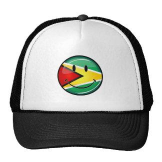 Glossy Round Smiling Guyanese Flag Cap
