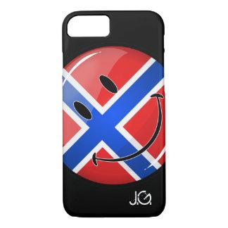 Glossy Round Smiling Norwegian Flag iPhone 7 Case