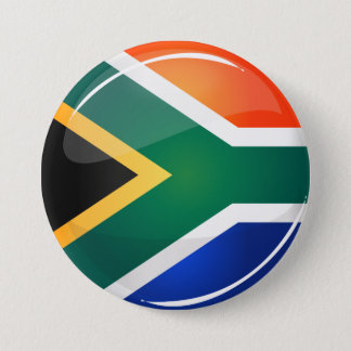 Glossy Round South African Flag 7.5 Cm Round Badge
