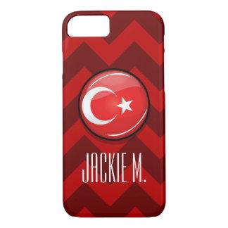 Glossy Round Turkish Flag iPhone 7 Case