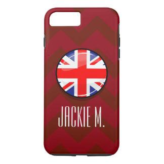Glossy Round UK English Flag iPhone 7 Plus Case