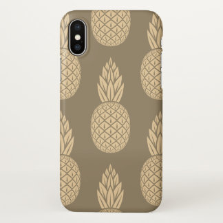 Glossy Sepia Pineapple Iphone Case