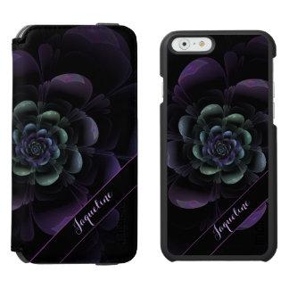 Glossy Teal Purple Lavender Black Floral Incipio Watson™ iPhone 6 Wallet Case