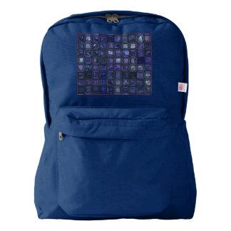 glossy tiles,blue (I) Backpack