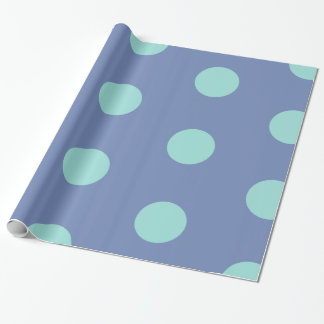 Glossy Wrapping Paper Blue Dots