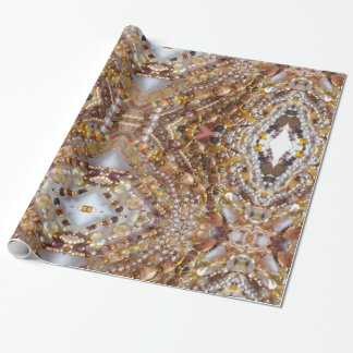 Glossy Wrapping Paper- Earthtones Beads Print Wrapping Paper