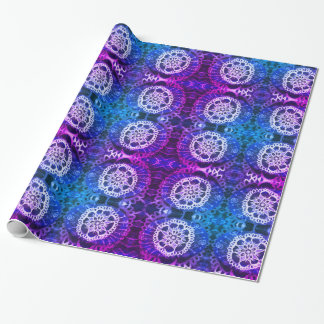 Glossy Wrapping Paper, White Mandala Edelweiss Wrapping Paper