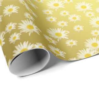 Glossy, wreath, paper, yellow, beautiful, floral, wrapping paper