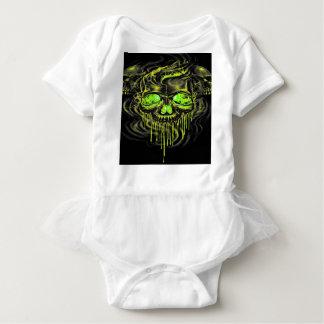 Glossy Yella Skeletons Baby Bodysuit