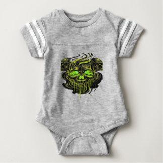 Glossy Yella Skeletons PNG Baby Bodysuit