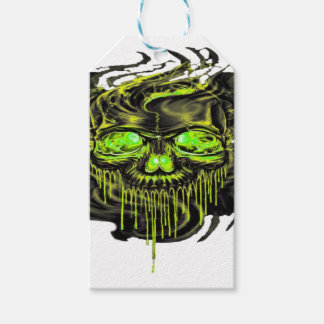 Glossy Yella Skeletons PNG Gift Tags