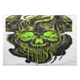 Glossy Yella Skeletons PNG Placemat