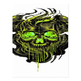 Glossy Yella Skeletons PNG Postcard