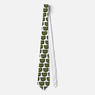 Glossy Yella Skeletons PNG Tie