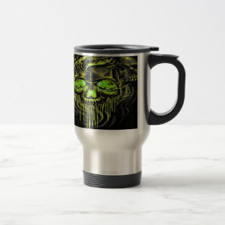 Glossy Yella Skeletons Travel Mug