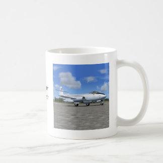 Gloster Meteor Jet Fighter Plane Basic White Mug