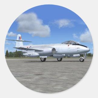 Gloster Meteor Jet Fighter Plane Round Stickers