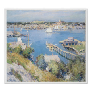 Gloucester Harbor, 1895 Willard Leroy Metcalf Poster