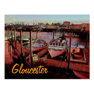 Gloucester Harbor Postcard