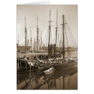 Gloucester Massachusetts Wharf 1905 Card
