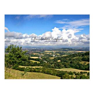 Gloucestershire, England Landscape Postcard