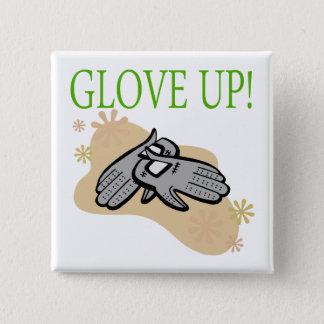 Glove Up 15 Cm Square Badge