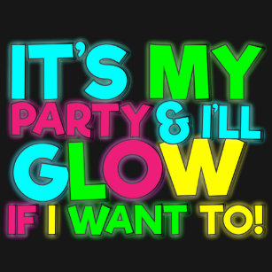 Glow Birthday Party Tshirt