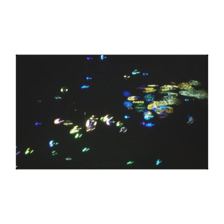Glow Bubbles 2 Gallery Wrapped Canvas