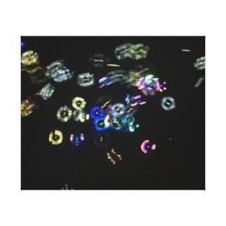 Glow Bubbles Gallery Wrap Canvas