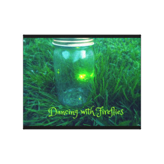 Glow Bugs Canvas Print