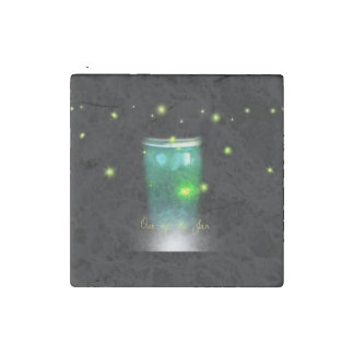 Glow Bugs Set of 4 Tiles Stone Magnet