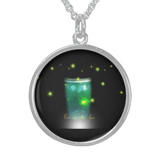 Glow Bugs Sterling Silver Necklace