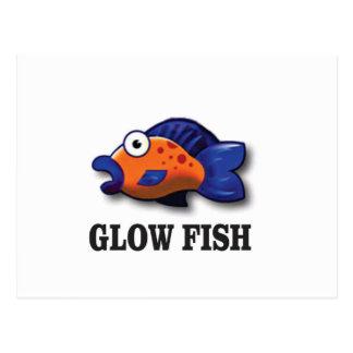 glow fish postcard