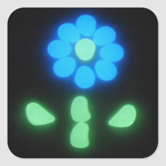 Glow Flower Power 1 Square Sticker
