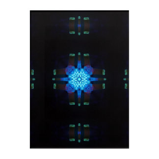 Glow from the Mad Scientist's Lab Kaleidoscope Acrylic Wall Art