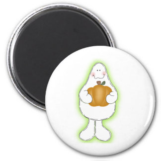 Glow Ghost 6 Cm Round Magnet