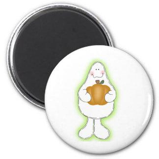 Glow Ghost 6 Cm Round Magnet