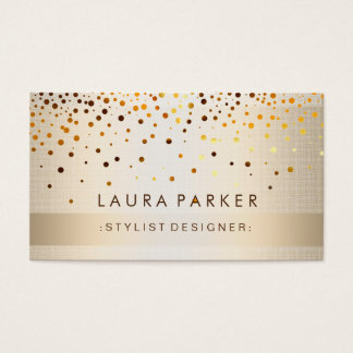 Glow Glitter Gold Elegant Background Business Card