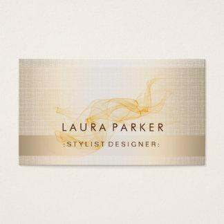 Glow Glitter Gold Foil Elegant Background Business Card