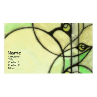 Glow - Green Pack Of Standard Business Cards