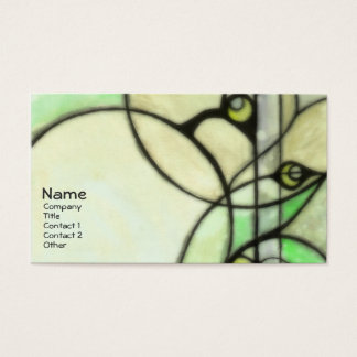 Glow - Green Business Card